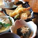 山さくら - 天婦羅、小鉢(蕎麦三昧)