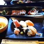 117467933 - 牛ステーキと握り寿司御膳(2,440円)