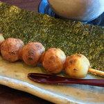 古都香 - お醤油のおだんご(海苔)店内限定