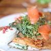 ガレットリア - 料理写真:スモークサーモンとトマト サワークリームのガレット