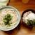 自家製さぬきうどんと肉 甚三 - 料理写真:自家製さぬきうどんと肉 甚三@浜松町 かけ+ぶたメシ(380円+220円)