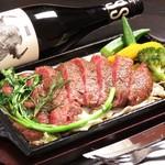 STEAK HOUSE & BBQ BALCONIWA - 【数量限定】国産黒毛和牛ステーキ 最上級の国産和牛を塩コショウのみで豪快に焼き上げます。