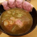 117479628 - (白湯)醤油つけ麺 肉増し