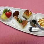 カフェ 陽溜 - 陽溜(ひだまり)スウィーツセット 850円(珈琲、紅茶つき)
