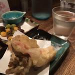 暮ラシノ呑処 オオイリヤ - 舞茸生ハム天ぷら