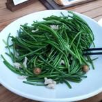 富錦樹台菜香檳 - 水蓮菜と木の実の炒め