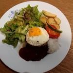 Arohakafe painappuru - ロコモコプレート