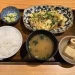 土鍋炊ごはん なかよし - 豚肉とたっぷり野菜の味噌炒め定食(980円)※季節のおすすめ定食 2019.10