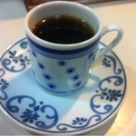 ラーメン角萬 - 食後のコーヒー