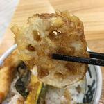 いわいたけし丼 - れんこんの天ぷらです
