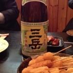 焼酎道楽 甑 - 三岳と串カツ