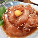 11751681 - 鶏ユッケ 650円