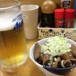 七福食堂 - 生ビールともつ煮込み