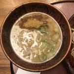 麺処むらじ - むらじのつけ麺 850円 (つけ汁)