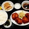 南京路 - 料理写真:南京路@戸田公園 から揚げハーフ定食・餃子ハーフ(500円+150円)