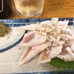 117518056 - 鶏ささみ刺(柚子胡椒バージョン)