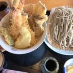 隠れ庵 - 料理写真:天丼定食(十割蕎麦)2200円