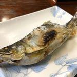 多喜乃屋 菊池みやげ店 - 料理写真:ここの鮎の塩焼き、実がふっくら焼き加減も塩加減もよしで美味しいんです༼ º﹃º ༽