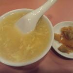 11753963 - ランチのスープとザーサイ