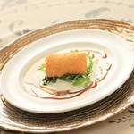 ヴィーナスコート 佐久平 - 松代一本ネギのコロッケ赤ワインのドレッシングで