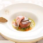 ヴィーナスコート 佐久平 - やわらかく煮込んだ豚のロースト ガルビュール風スープ仕立て