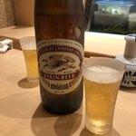 江戸之家 - 瓶ビール(大瓶)は普段メニューにないらしい 880円