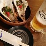 117537058 - 牡蠣とビールからスタート