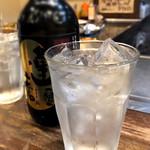 本格広島お好み焼き たにもと - 焼酎水割り
