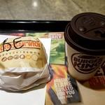 バーガーキング - スモーキーベーコンエッグチーズ クロワッサンドイッ®コンビ:400円