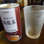 うな吉 - サービスのウーロン茶♫
