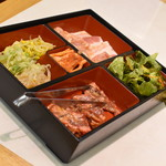 焼肉 三千里 - 料理写真:満腹ランチ(1,050円)2019年9月