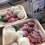 泉佐野漁協青空市場 - 鮪中落ち・ホタテ貝柱♪