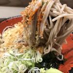 名代 富士そば - たぬきそば 麺リフト