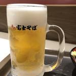 名代 富士そば - 生ビール