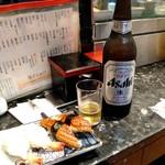 117556770 - 海老と鰻と大瓶瓶ビール