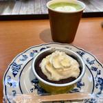 記念の森レストハウス - 料理写真:抹茶ラテと焼き芋ショコラ