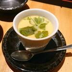 117563782 - 蘭王たまごとみつせ鶏の茶碗蒸し