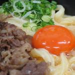 極楽うどん TKU - 肉釜玉うどん \930