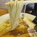 阿波尾鶏中華そば藍庵 - 麺の太さ
