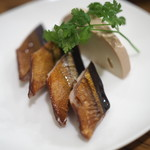 チャイニーズバル ゆずのたね - 新秋刀魚燻製クリームチーズ380円