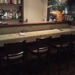 リトルキッチン - 大谷石のカウンター