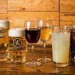 トレシェーナ - 飲み放題(90分制)1,800 円(サ込・税別)生ビール/ワイン/ハイボールなど。ブッフェメニューと一緒に、ぜひ飲み放題メニューもお楽しみください。