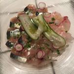 クラフトマン - 鮮魚のカルパッチョ 鯵、秋刀魚、ヒラマサ