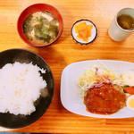 グリルみゆき - ハンバーグ定食680円
