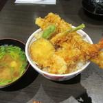 下町天丼 秋光 - 嫁さんの天丼と、なめこ汁。