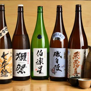 様々な味わいの日本酒や焼酎、幅広い種類のドリンクをご用意