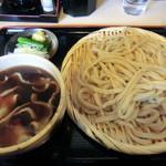 手打ちうどん 福助 - 田舎うどん中盛+肉汁(700円)_2012-02-24