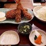鎌倉かつ亭 あら珠 - 料理写真:ロースカツと海老フライ御膳1550円(税別)