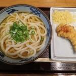 宮武讃岐製麺所 - 料理写真:かけ(大)+かしわ天
