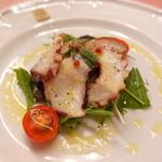 ピッツェリア・サバティーニ - 真蛸と茄子のマリネ林檎のヴィネグレットソース